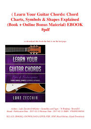B O O K Learn Your Guitar Chords Chord Charts Symbols