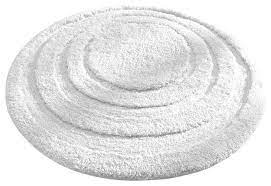 Interdesign Microfiber Spa Round Bathroom Accent Rug 24 White Contemporary Bath Mats By K M Housewares And Appliances Inc Houzz