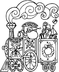 Small Picture Giving your youngster Christmas train coloring page coloring pages