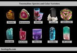 Tourmaline Color Chart Tourmaline Species And Color Varieties