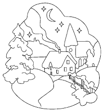 Weird Winter Scene Coloring Pages Of Printable 20938 Regarding