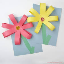 Flower Paper Craft Giant Paper Flowers Construction Paper Crafts For Kids