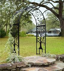 Small Picture Metal Garden Arbor with Tree of Life Design Arbors Trellises