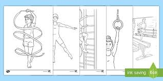 Gymnastics coloring pages download and print easy coloring pages for kids, home worksheets for preschool boys and girls. Gymnastics Colouring Pages Teacher Made