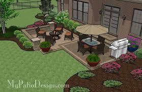 square patio designs. Medium Two Square Patio - TinkerTurf Designs U