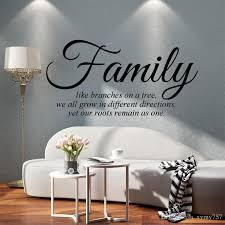 Wall Art Quotes Gorgeous Personality Family Like Branches On A Tree Vinyl Wall Art Quote