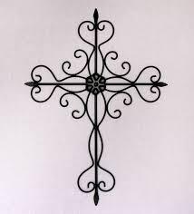 black metal cross wall art