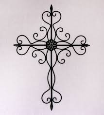 black metal decorative cross wall hanging by craftter