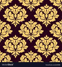 Gold Damask Background Pretty Gold And Brown Seamless Damask Pattern