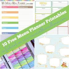 menu planner printable ten fabulous free meal planning printables mum in the madhouse