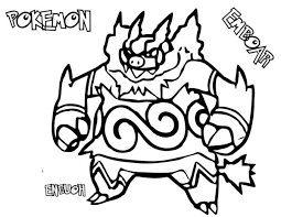 Small Picture Emboar Coloring Pages Pokemon Black And White Bebo Pandco