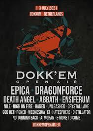Em 2021 spelas mellan datumen 11 juni och 11 juli. Dokk Em Open Air 2021 01 07 2021 3 Days Dokkum Friesland Netherlands Concerts Metal Calendar