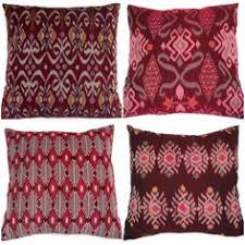 maroon decorative pillows. Plain Decorative Ikat Pillow Oxblood Maroon Set Of 4 16x16 In Maroon Decorative Pillows U