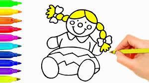 Small Picture Baby Doll Drawing for Kids Coloring Pages Learning Colouring