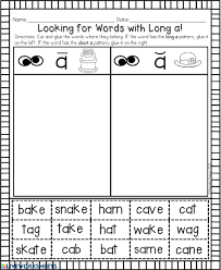 Check out our collection of printable phonics worksheets for kids. Long A Words With Ai Ay A E
