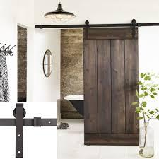 sliding door hardware. Amazon.com: Erfect 6.6 FT Antique Style Barn Door Hardware Sliding Set Wood Track Kit Black( \