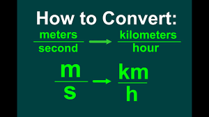 Miles To Minutes Conversion Chart Converting M S To Km H Easy