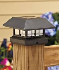 fantastic deck lighting ideas decorating ideas. by day itu0027s a decorative finishing touch to your deck or fence post at night the highoutput led lights fantastic lighting ideas decorating