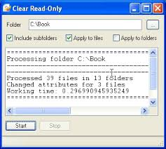 Clear Read Only 1 0 Screenshot Freeware Files Com
