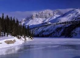 Brooks Range Ice River Snow Scenes Photo Information