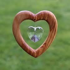 Fensterdeko Herz Aus Holz Elegant Fensterschmuck Mit Bleikristall