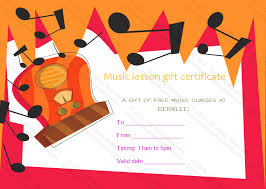 Guitar Lesson Gift Certificate Template Gift Certificate Template Beautiful Printable Gift Certificate Music
