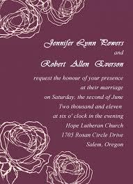 Uncategorized Online Wedding Invitation Design Vintage Plum Rose
