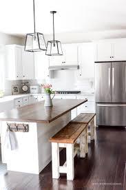 diy kitchen island. DIY Kitchen Benches | Simply Kierste.com Diy Island
