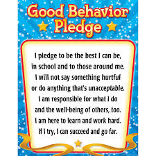 Motivational Charts For School Good Behavior Pledge Chart Motivational Tcr7790