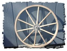 full picture of the wooden wagon wheel with the sealed bearing hub these wheels are available in 20 24 28 32 36