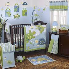 ocean crib bedding green