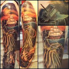 Cthulhu Sleeve Aubrey 39th Street Tattoo Kansas City 39th