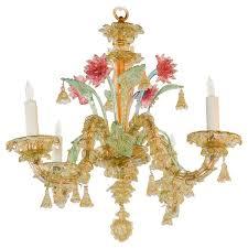 antique italian murano multi color chandelier for