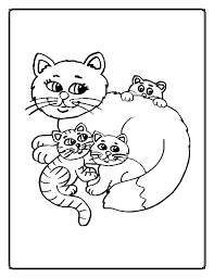 Small Picture Cat Coloring Pages Moms Who Think