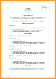 Career Objectives Cv Examples For Accountants Sample Cvs Objective