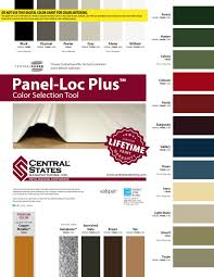 Central States Metal Color Chart Info Oklahomabuildings Com