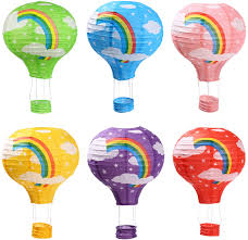 Hot Air Balloon Paper Lanterns for Wedding Birthday Engagement Christmas  Party Decoration Rainbow Set Pack of 6 - - Amazon.com