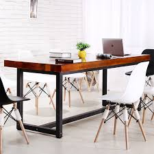 american country wrought iron dining table solid wood desk solid wood furniture design wood conference table