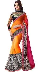 buy wama fashion latest designer multi colour georgette saree wama fashion latest designer multi colour georgette saree