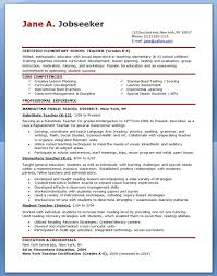 Examples Of Teacher Resumes 19 Teachers Professional Provides Online