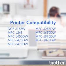 Brother Genuine Standard Yield Color Ink Cartridges