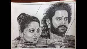 Bahubali 2 The Conclusion I Drawing Prabhas and Anushka | Drawing Bahuba...  | Celebrity drawings, Pencil sketch images, Drawings