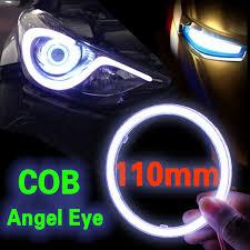 Superb 2x110mm COB Angel Eye LED Motorrad Auto Licht Halo Ringe Wasserdichte Auto  Scheinwerfer Nebelscheinwerfer Auto Led