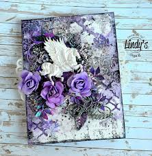 mixed media canvas. Brilliant Media Olga Bielska Here With You Today And Iu0027m Going To Show How I Made This  Perfectly Purple Mixed Media Canvas Then Added Sparkling Color Using  Inside Mixed Media Canvas S