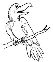 Corbeau 6 Animaux Coloriages Imprimer