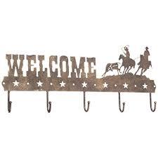 gift corral wele sign hook team roper black bronze