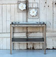 silver painted furniture. Metallic Silver Furniture Antiquing Process Painted