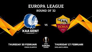 KAA Gent speelt tegen AS Roma in de Round of 32