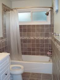 bathtub design interior rectangle white corner bathtub plus toilet placed on the brown tile flooring shower