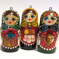 Ornaments Set Russian Matryoshka - Ornaments Sets - Russian Crafts